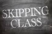 Skipping Class written on board — Stock Photo