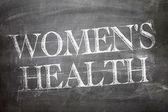 Women's Health written on board — Stock Photo