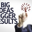 Business man with the text Big Ideas Bigger Results — Stock Photo #59670367