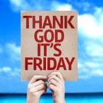 Thank God It's Friday card — Stock Photo #59672119