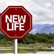 New Life written on red road sign — Stock Photo #59674011