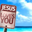 Jesus Loves You sign — Stock Photo #59674705