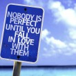 Nobody is Perfect Until You Fall In Love With Them sign — Stock Photo #59676731