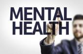 Board with text: Mental Health — Stock Photo