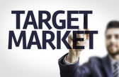 Board with text: Target Market — Stock Photo