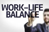 Board with text: Work-Life Balance — Stock Photo