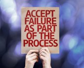 Accept Failure As Part Of The Process card — Stock Photo
