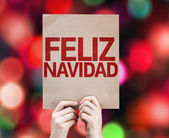 Merry Christmas (In Spanish) card — Stock Photo