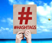 Hashtag Icon with Hashtags card — Stock Photo