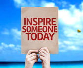 Inspire Someone Today card — Stock Photo