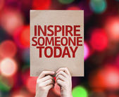 Inspire Someone Today written on colorful background — Stock Photo
