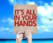 It's All In Your Hands card — Stock Photo