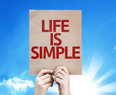 Life Is Simple card — Stock Photo