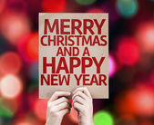 Merry Christmas And a Happy New Year card — Stock Photo