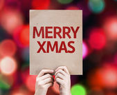 Merry Xmas written on colorful background — Stock fotografie