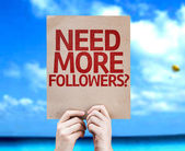 Need More Followers? card — Stock Photo