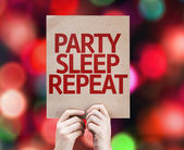 Party Sleep Repeat written on colorful background — Stock Photo