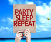 Party Sleep Repeat card — Stock Photo