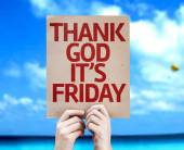 Thank God It's Friday card — Stock Photo