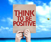 Think To Be Positive card — Stockfoto