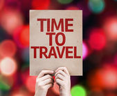Time To Travel written on colorful background — Stock Photo