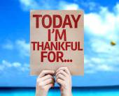 Today I'm Thankful For... card — Stock Photo