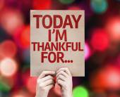 Today I'm Thankful For... written on colorful background — Stock Photo
