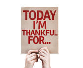 Today I'm Thankful For... card isolated on white background — Stock Photo