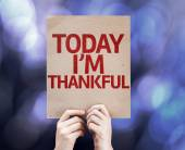 Today I'm Thankful written on colorful background — Stock Photo