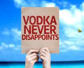 Vodka Never Disappoints card — Foto de Stock