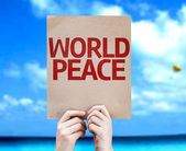World Peace card — Stock Photo