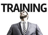 Business man with the text Training — Stock Photo