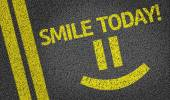 Smile Today written on the road — Stock Photo