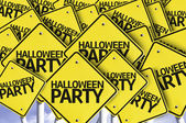 Halloween Party.Road sign — Stock Photo