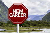 New Career written on red road sign — Foto de Stock