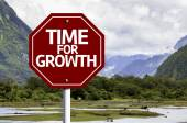 Time For Growth written on red road sign — Stock Photo