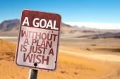 A Goal Without a Plan Is Just A Wish sign — Stock Photo