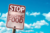 Stop Wasting Food sign — Stock Photo