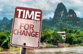 Time For Change sign — Stock Photo