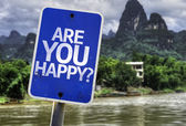 Are You Happy? sign — Stock Photo