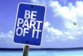 Be Part Of It sign — Stock Photo