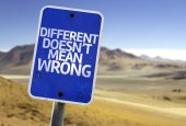 Different Doesn't Mean Wrong sign — Stock Photo