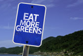 Eat More Greens sign — Foto de Stock