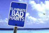 Eliminate Bad Habits sign — Stock Photo