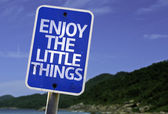 Enjoy the Little Things sign — Stock Photo