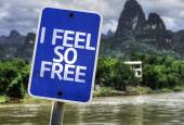 I Feel So Free sign — Stock Photo