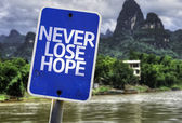 Never Lose Hope sign — Stock Photo