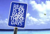 Real is So Rare These Days sign — Stock Photo
