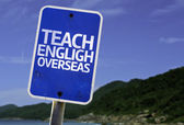 Teach English Overseas sign — Stock Photo