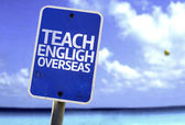 Teach English Overseas sign — Foto de Stock